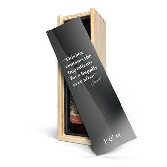 Glühwein - bedruckte Kiste