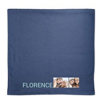 Photo towel - Navy