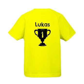 Kinder Sportshirt - Gelb - 10 Jahre