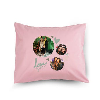 Liefdeskussen - Roze - 50x60cm - Gevuld