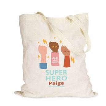 Placená taška -  Krémové - Superhrdinové