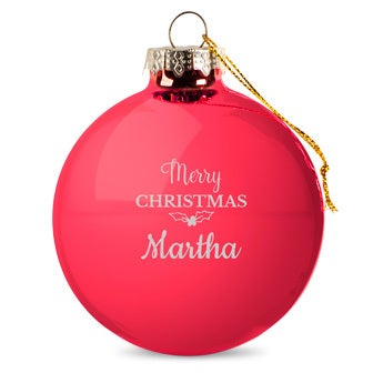 Personalised glass baubles - Red (4 pieces)