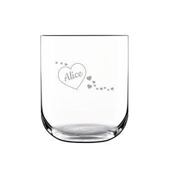 Vaso de agua de lujo - Grabado