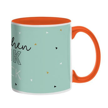 Tasse mit Namen - Orange