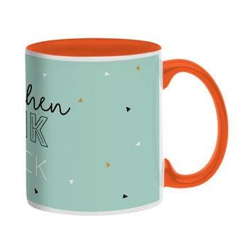 Tasse mit Namen - Orange