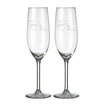 Coupes de champagne Saint Valentin