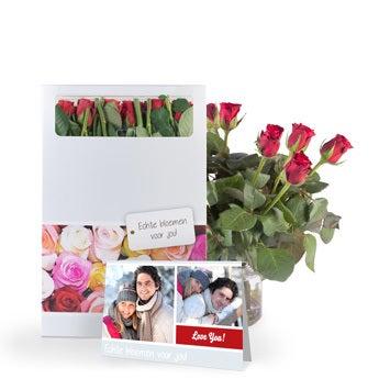 Brievenbusbloemen - Rode rozen