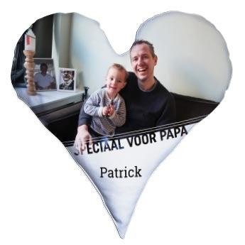 Vaderdag volledig bedrukt kussen - Hart - Velours (60x60)