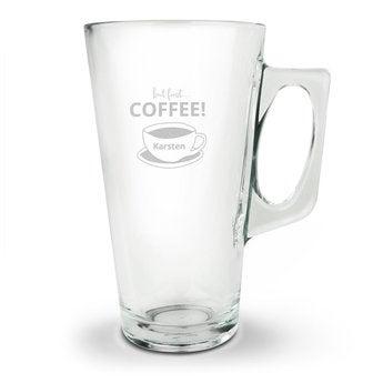 Latte Macchiato Glas mit Gravur