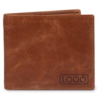 Grawerowany skórzany portfel