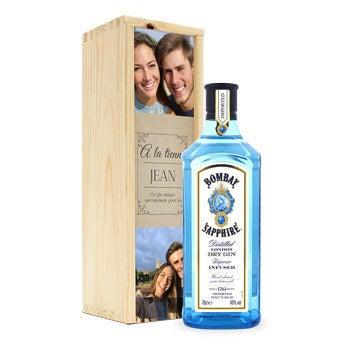 Gin Bombay Sapphire - coffret imprimé