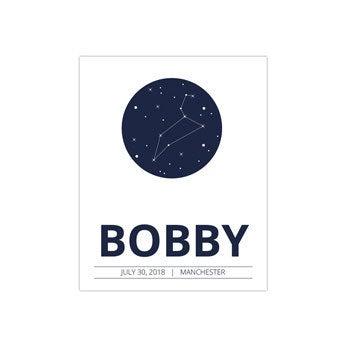 Cartaz de nascimento de bebê - 40 x 50 cm