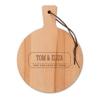 Dřevěný servírovací talíř - Bukové dřevo - Kulaté (S)