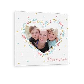 Foto su tela per la Festa della Mamma - 40x40