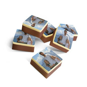 Solid chocolates - Square - set of 60
