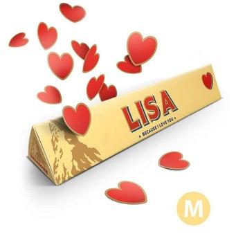 Barra de Toblerone mediana - Amor - 200 gramos