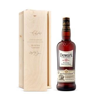 Whisky Dewar's 12 ans - Coffret gravé
