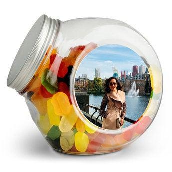 Üveg édességekkel - zselés bab
