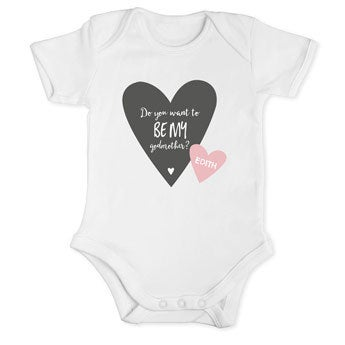 Will you be my godmother romper - White 50/56