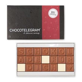 Chocotelegram - 3x7 Buchstaben