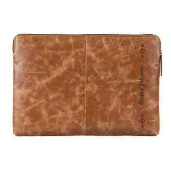 Bolsa de laptop em couro
