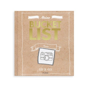 Personalisiertes Bucket List Buch