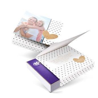 I love Milka giftbox - Amor - 220gr (Corazón)