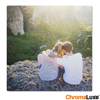Chromaluxe Aluminium photo - Brushed - 20x20cm