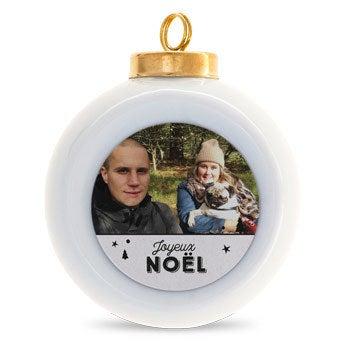Boules de Noël en céramique (2 pièces)