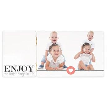 Hinged photo frame - rectangular