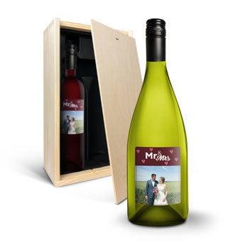 Luc Pirlet Chardonnay i Merlot z etykietami