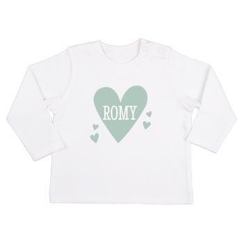 Baby T-shirt - Lange mouw - Wit - 74/80