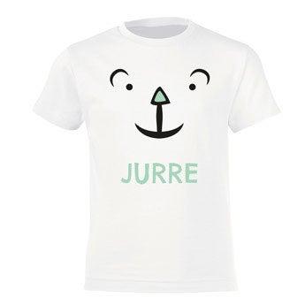 T-shirt - Kids - Wit - 8 jaar