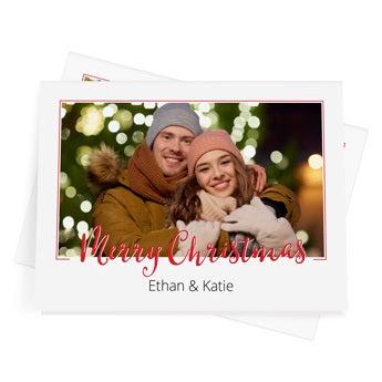 Cartões de Natal personalizados