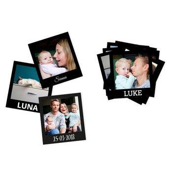 Conjunto de fotos polaroid instantânea