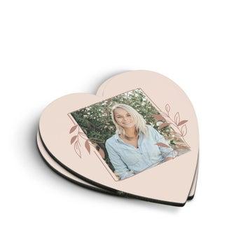 Coasters em forma de coração (2 peças)