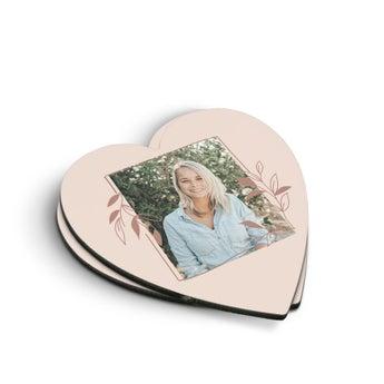 Hjerteformede Glassbrikker (2 stk)