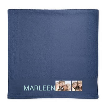 Handdoek met foto - Navy