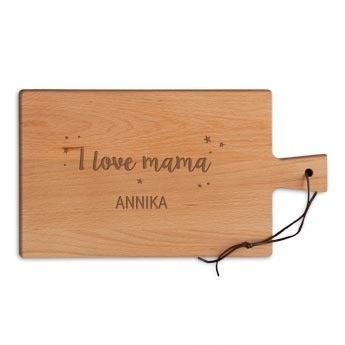 Holzbrett mit Gravur und Namen - Muttertag