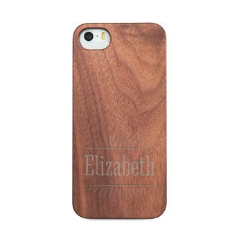 Caixa de telefone de madeira - iPhone 5 / 5s