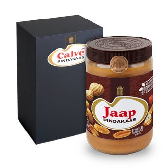 Calvé pindakaas pot in giftbox - Supersize (1 kilo)