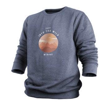 Tryckt tröja - Män - Indigo - S