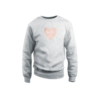 Sweatshirt personalizada - Crianças - Cinza - 12 anos