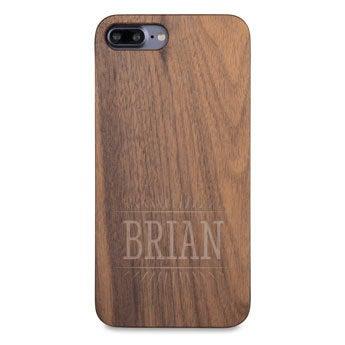 Caixa de telefone de madeira - iPhone 7 plus