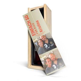 Belvy - Rotwein - bedruckte Kiste