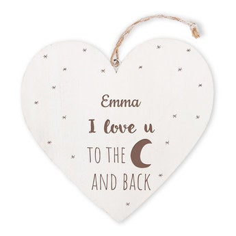 Coeur en bois - Saint-Valentin