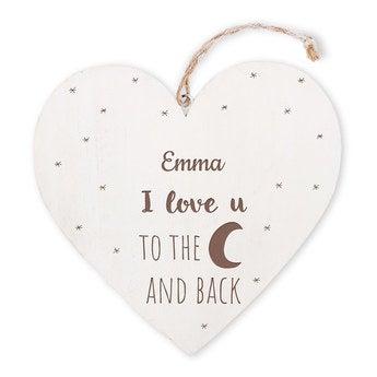 Coração dos namorados de madeira