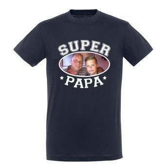 T-shirt Fête des Pères - Bleu marine - XL