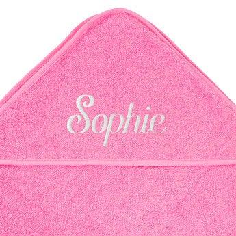 Hooded baby towel - Pink