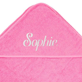 Ręcznik dla niemowląt z kapturem - różowy
